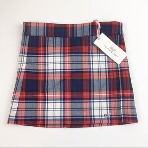NWT Vineyard Vines Wool Plaid Faux Wrap Skirt